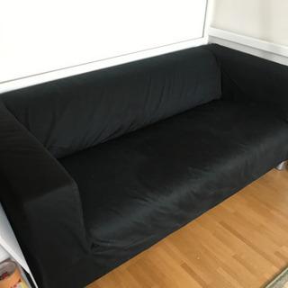2-3人掛け黒ソファ[IKEA製][値段交渉応じます]