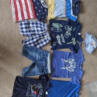 90~100cm男の子用子供服夏向けセット+帽子