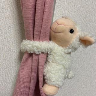 【再掲載】2体 ひつじ ぬいぐるみ カーテンタッセル 人形