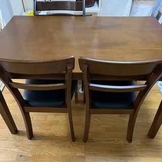 ダイニングテーブル 椅子4個付き