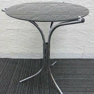 ss1096 ガラス製 サイドテーブル 丸テーブル 丸型 ブラッ...