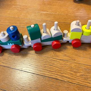 積み木の列車