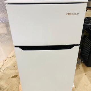 【極美品】2018年製 ハイセンス 2ドア冷蔵庫 93LHR‐B...