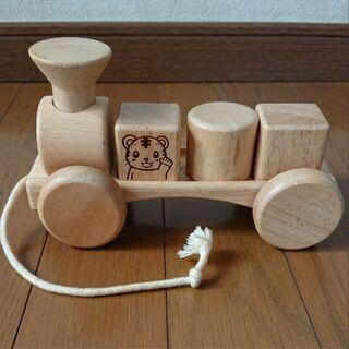 知育玩具 しまじろう 木製 汽車 こどもちゃれんじ 木のおもちゃ 知育