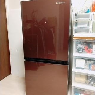 冷蔵庫 2ドア ハイセンス Hisense 2018年製 134...