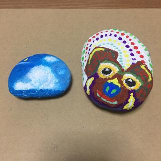 石アート 2個