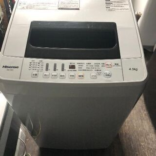 No.262 ハイセンス  4.5キロ洗濯機   2018…