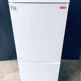 558番 SHARP✨ノンフロン冷凍冷蔵庫✨SJ-C14S-W‼️