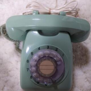 昭和レトロ 緑電話