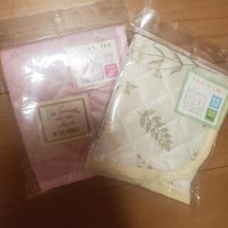 枕パット冷感★ピンク、黄色柄セット2枚 夏用 未使用