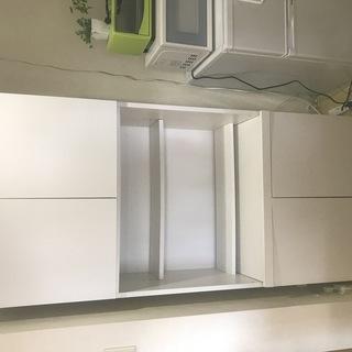 ■備品食器棚 3段式 3段目引き出し式