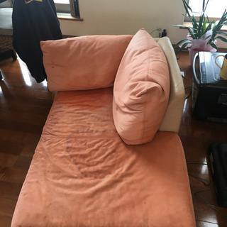 イタリア製スエードソファー 中古