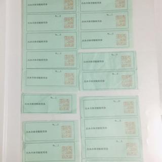 「出水市体育館」使用券  17枚分