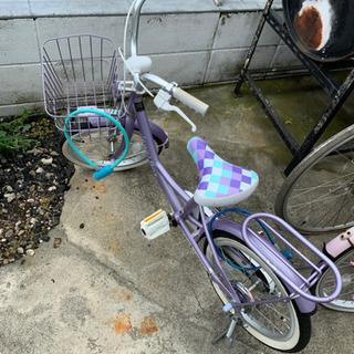 子供用自転車 16インチ 紫