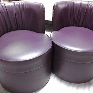 レザー張り椅子2セット