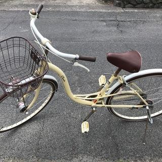 【値下げ】自転車 クリーム色