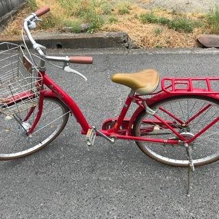 【値下げ】自転車 レッド
