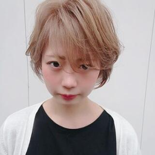 【ヘアデザインミエル】ハイトーンショート
