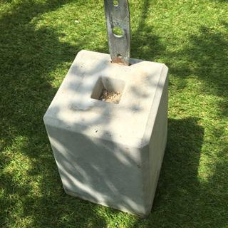ウッドデッキ プレート付束石 羽子板付束石 10個セット