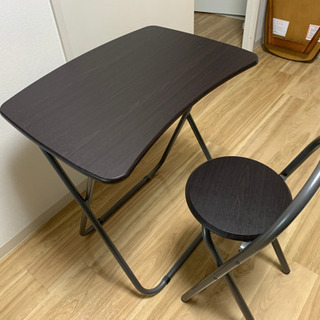 折りたたみテーブル、椅子セット