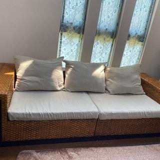 アジアン家具 ソファとローテーブルセット