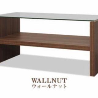 美品 ガラステーブル ローテーブル 幅90cm 奥行 45cm