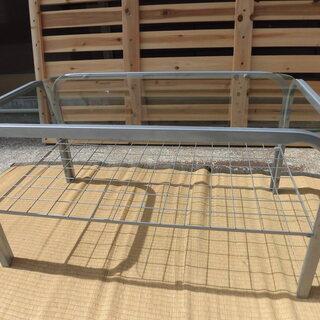 JM6539)★お値下げ★ガラス天板テーブル 730×430×3...
