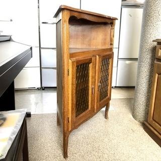 札幌近郊 送料無料 アンティーク コーナーボード キャビネット 古家具 - 家具