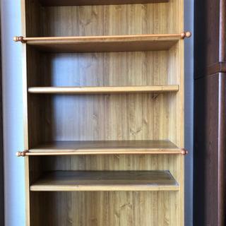 木製本棚6段の画像