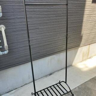 黒色 スチール製 ハンガーラック幅59cm