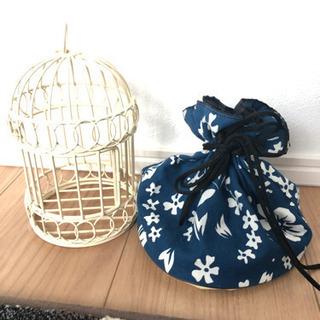 鳥のケージと夏用巾着セット!
