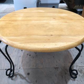 猫脚 丸テーブル 直径60cm 折りたたみ テーブル 円卓 座卓