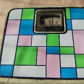 レトロアナログ型体重計