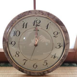 大理石風 掛け時計