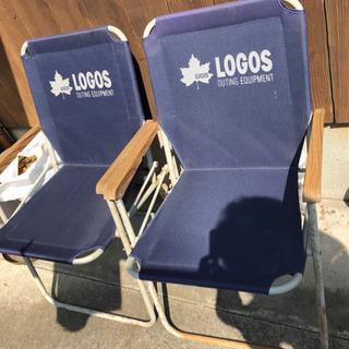 LOGOS アウトドア折りたたみチェアー 2脚