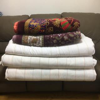 敷布団と毛布