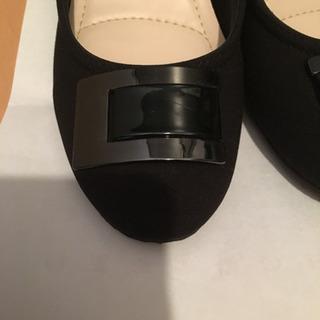 しまむら パンプス 黒 - 靴/バッグ