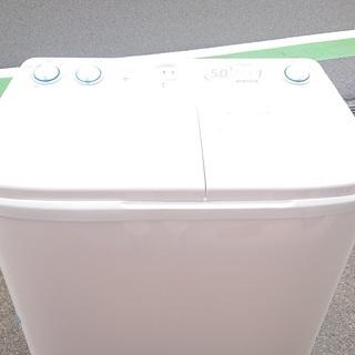 2層式洗濯機 AQUA 2019年製 5㎏ AQW-N50(W20)