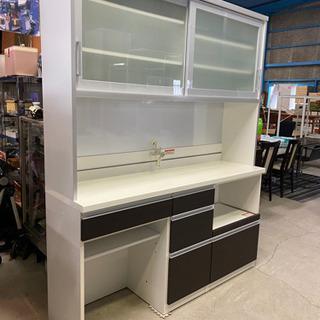 激安大型キッチンボード!配送可 タカハシ木工 フローラⅡ 食器棚