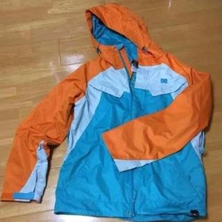 DC スキー ボード ウエア オレンジ 水色の画像