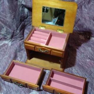 【タンス型のジュエリーボックス】鏡付き 木製 ジュエリーケース ...