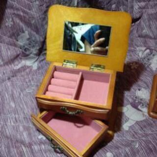 【タンス型のジュエリーボックス②】鏡付き 木製 ジュエリーボック...