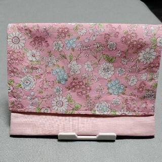 移動ポケット 花柄(ピンク) ハンドメイド