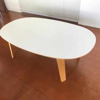 無印良品 オーバル ローテーブル ホワイト