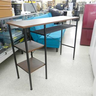カウンターテーブル バーテーブル 収納付き 幅120cm テーブ...
