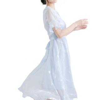 新品★ワンピースレディース 夏 ロング丈ワンピース きれいめ 羽柄