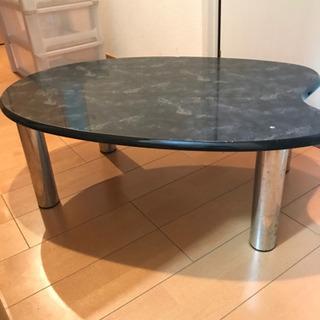 大理石風ローテーブル