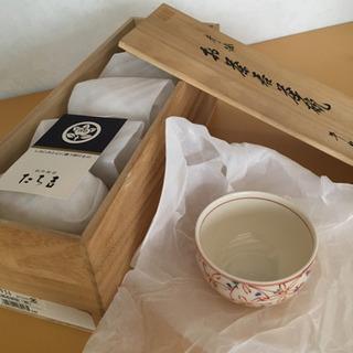 たち吉 赤絵 お茶呑茶碗(桐) 5個セット