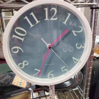 アフタヌーンティー 白色の壁掛け時計 直径23cm