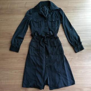 9号Mサイズ黒ブラックシャツワンピース